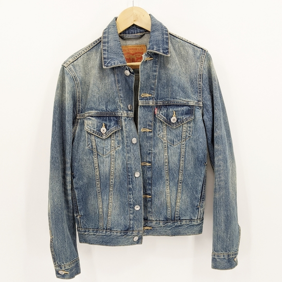 Levi's Distressed Denim Jean Jacket Classic XS